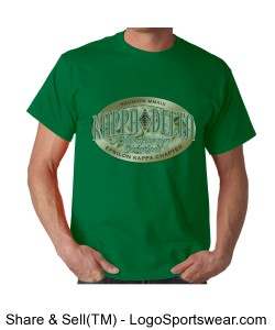 Formal logo on Men's Kelly Green T-Shirt Design Zoom